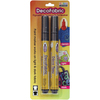 Black - DecoFabric Markers 2/Pkg Marvy Uchida-DecoFabric Markers Two Pack. Permanent, non-toxic, pigmented opaque paint markers that work on dark and light fabric. Ideal for decorating clothing, costumes, T-shirts, aprons, tote bags, backpacks, denim and canvas. WARNING: Choking Hazard. Not suitable for children under 36 months. Conforms to ASTM D4236. Imported.