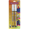 White - DecoFabric Markers 2/Pkg Marvy Uchida-DecoFabric Markers Two Pack. Permanent, non-toxic, pigmented opaque paint markers that work on dark and light fabric. Ideal for decorating clothing, costumes, T-shirts, aprons, tote bags, backpacks, denim and canvas. WARNING: Choking Hazard. Not suitable for children under 36 months. Conforms to ASTM D4236. Imported.