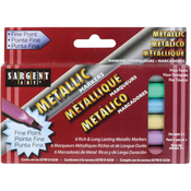 Liquid Metals Fine Point Markers 6/Pkg