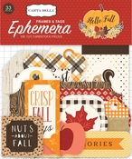 Hello Fall Tags & Frames Ephemera - Carta Bella