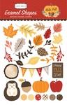 Hello Fall Enamel Shapes - Carta Bella