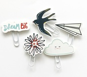 Dream Big Die Cut Paper Clips - Fancy Pants
