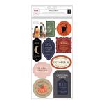 Spellcast Vinyl Cling Labels - Pink Paislee