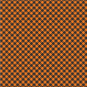 Pumpkin Plaid Paper  - Midnight Haunting - Pebbles