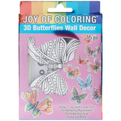 Butterfly - Joy Of Coloring 3D Wall Decor 16pcs