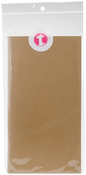 "Kraft W/Bright White Pages - Freckled Fawn Pocket Traveler's Notebook Insert 8.25""X4.25"""