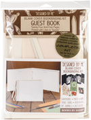 """Guest Book, Ivory 7""""X10.5"""" - Books By Hand Designed By Me Blank Cover Bookbinding Kit"""