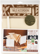 """Wild Accordion Album, Ivory 4.25""""X4.25"""" - Books By Hand Designed By Me Blank Cover Bookbinding Kit"""