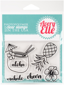 "Aloha - Avery Elle Clear Stamp Set 4""X3"""