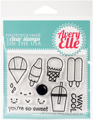 "Cool Treats - Avery Elle Clear Stamp Set 4""X3"""