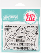 "Extraordinary - Avery Elle Clear Stamp Set 4""X3"""