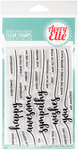 """Sentimental Too - Avery Elle Clear Stamp Set 4""""X6"""""""