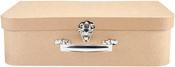 Paper-Mache Suitcase Set 3/Pkg