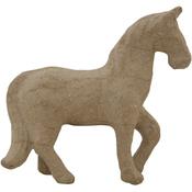 """4.75""""X4.25"""" - Paper-Mache Horse"""