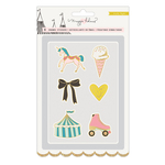 Gold Foil Faux Enamel Stickers - Carousel - Maggie Holmes