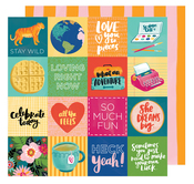 Fit To Be Square Paper - Hustle & Heart - Amy Tangerine