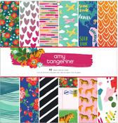 Hustle & Heart 12 x 12 Paper Pad - Amy Tangerine