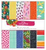 Hustle & Heart 6 x 6 Paper Pad - Amy Tangerine