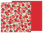 Poinsettia Blossoms Paper - Merry Merry - Pebbles