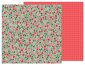 Christmas Floral Paper - Merry Merry - Pebbles