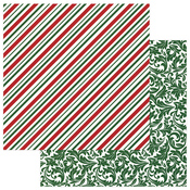 Candy Cane Paper - Mad 4 Plaid Christmas - Photoplay