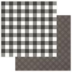 Grey & White Solids + Buffalo Check - Mad 4 Plaid Christmas - Photoplay