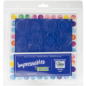 "Overlapping Circles - Gel Press Impressables 7""x7"" Embossed Gel Plate By Palettini"