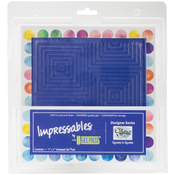 "Squares In Squares - Gel Press Impressables 7""x7"" Embossed Gel Plate By Palettini"