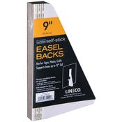 "White Single-Wing 9"" - Self-Stick Chipboard Easel Backs 25/Pkg"