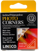 "Clear .625"" - Polypropylene Photo Mounting Corners 500/Pkg"