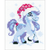 "5.25""X6.5"" 10 Count - Gentle Snow Counted Cross Stitch Kit"