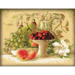 "12""X9.5"" 14 Count - Still Life With Sweet Cherries Counted Cross Stitch Kit"