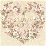 "4.5""X4.5"" 25 Count - All Heart Counted Cross Stitch Kit"