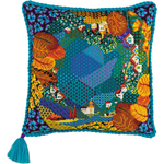 """15.75""""X15.75"""" 10 Count - Dreamland Cushion Counted Cross Stitch Kit"""