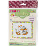 """6.5""""X5.25"""" 10 Count - Grandma's Merry Geese Counted Cross Stitch Kit"""