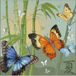 "13.75""X13.75"" 14 Count - Butterflies Counted Cross Stitch Kit"