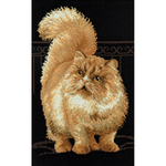"""10.25""""X15"""" 10 Count - Persian Cat Counted Cross Stitch Kit"""