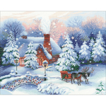 "17.75""X13.75"" 14 Count - Christmas Eve Counted Cross Stitch Kit"