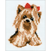 "5.25""X6.5"" 10 Count - Yorkie Counted Cross Stitch Kit"