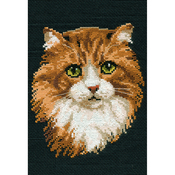 "8.25""X12"" 10 Count - Red Cat Counted Cross Stitch Kit"