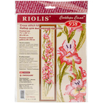 "8""X36.25"" 15 Count - Gladioli Counted Cross Stitch Kit"