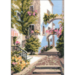 "10.5""X15"" 10 Count - The Italian Courtyard Counted Cross Stitch Kit"