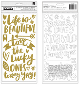 Gold Glitter Thickers - Hustle & Heart - Amy Tangerine