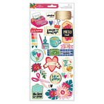 Gold Foil Layered Paper Stickers - Hustle & Heart - Amy Tangerine