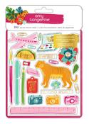 Gold Foil Sticker Book - Hustle & Heart - Amy Tangerine