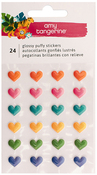 Hustle & Heart Puffy Heart Stickers - Amy Tangerine