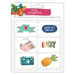 Hustle & Heart Enamel Pin Stickers - Amy Tangerine