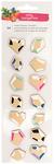 Hustle & Heart 3D Diamond Gold Foil Hearts - Amy Tangerine
