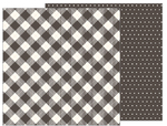 Pinstripe Buffalo Check Paper - Heart Of Home - Pebbles