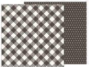 Pinstripe Buffalo Check Paper - Heart Of Home - Pebbles